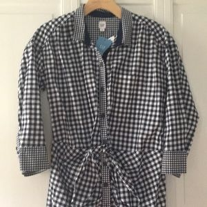 Gap SJP collection mixed gingham dress